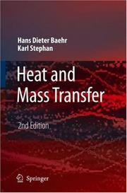 Heat and Mass Transfer by Hans Dieter Baehr, Karl Stephan