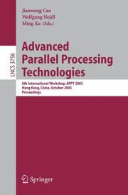 Cover of: Advanced Parallel Processing Technologies |