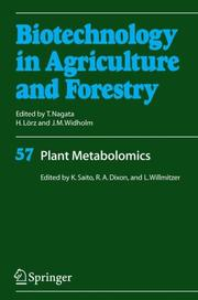Cover of: Plant Metabolomics (Biotechnology in Agriculture and Forestry) |