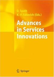 Cover of: Advances in Services Innovations |