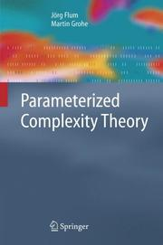 Cover of: Parameterized complexity theory |