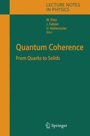 Cover of: Quantum Coherence |