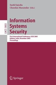 Cover of: Information Systems Security |