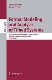 Formal modeling and analysis of timed systems by