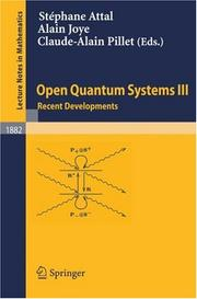 Cover of: Open quantum systems by