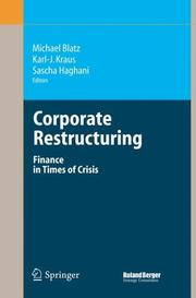 Cover of: Corporate Restructuring |