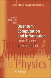 Quantum Computation And Information: From Theory To Experiment (Topics In Applied Physics)