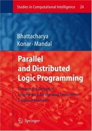 Cover of: Parallel and distributed logic programming by