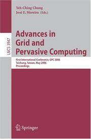 Cover of: Advances in Grid and Pervasive Computing |