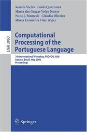 Cover of: Computational Processing of the Portuguese Language |