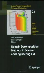Cover of: Domain Decomposition Methods in Science and Engineering XVI (Lecture Notes in Computational Science and Engineering) |