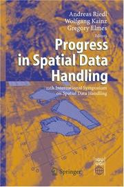 Cover of: Progress in spatial data handling |