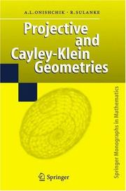 Cover of: Projective and Cayley-Klein geometries |