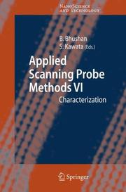 Cover of: Applied scanning probe methods VI