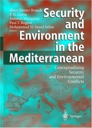 Cover of: Security and environment in the Mediterranean