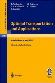 Cover of: Optimal transportation and applications