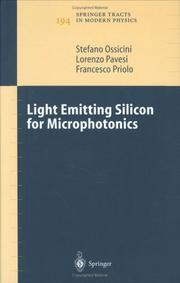 Cover of: Light Emitting Silicon for Microphotonics | S. Ossicini