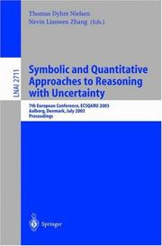 Cover of: Symbolic and Quantitative Approaches to Reasoning with Uncertainty |