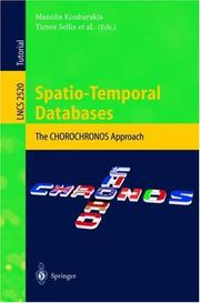 Cover of: Spatio-Temporal Databases |