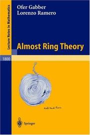 Cover of: Almost ring theory by