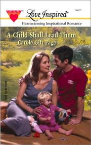 Cover of: A Child Shall Lead Them | Carole Page