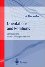 Cover of: Orientations and Rotations by Adam Morawiec