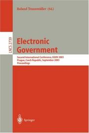 Cover of: Electronic Government
