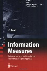 Information Measures: Information and Its Description in Science and Engineering