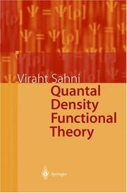 Cover of: Quantal Density Functional Theory | Viraht Sahni