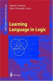 Cover of: Learning Language in Logic (Lecture Notes in Computer Science) |