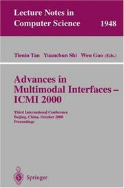 Cover of: Advances in multimodal interfaces -- ICMI 2000 |