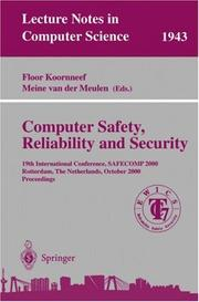 Cover of: Computer Safety, Reliability, and Security |