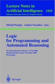 Cover of: Logic for Programming and Automated Reasoning |