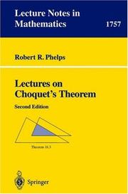 Cover of: Lectures on Choquet