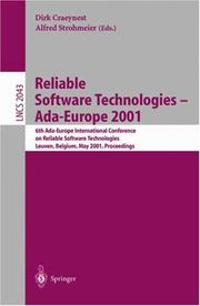 Cover of: Reliable Software Technologies - Ada-Europe 2001 |