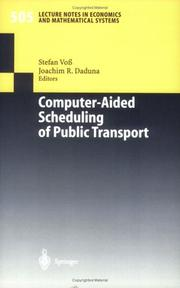 Cover of: Computer-aided scheduling of public transport