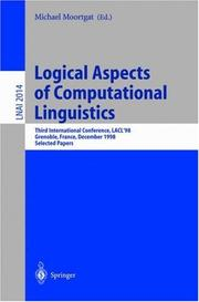Cover of: Logical Aspects of Computational Linguistics