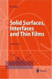 Cover of: Solid surfaces, interfaces and thin films