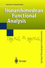 Cover of: Nonarchimedean Functional Analysis