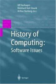 Cover of: History of Computing - Software Issues |