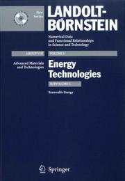 Cover of: Renewable Energy (Landolt-Bornstein: Numerical Data and Functional Relationships in Science and Technology - New Series) |