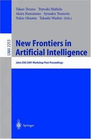 Cover of: New frontiers in artificial intelligence |