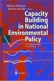 Cover of: Capacity Building in National Environmental Policy | H. Jörgens