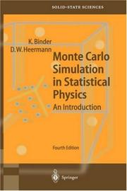 Monte Carlo simulation in statistical physics by Binder, K.