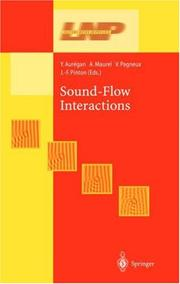 Cover of: Sound-Flow Interactions (Lecture Notes in Physics) |