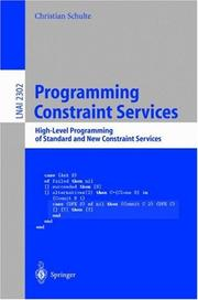 Cover of: Programming Constraint Services