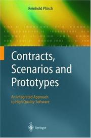 Cover of: Contracts, scenarios, and prototypes | Reinhold PloМ€sch