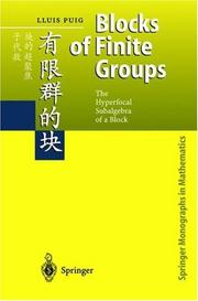 Cover of: Theory of Blocks of the Finite Groups | Lluis Puig