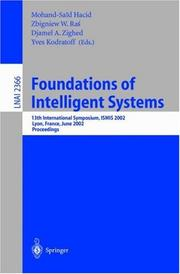 Cover of: Foundations of Intelligent Systems |