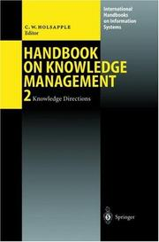 Cover of: Handbook of Knowledge Management | Clyde W. Holsapple
